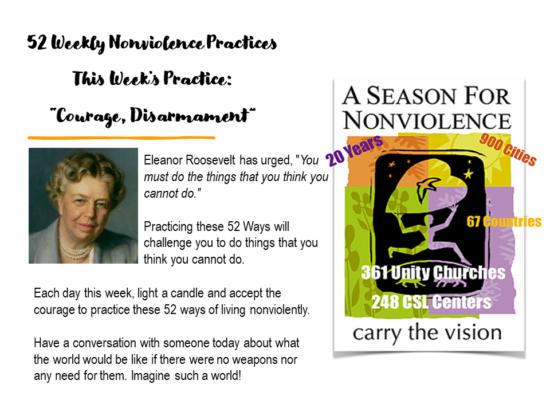 52 weeks July Week 4 Courage, Disarmament