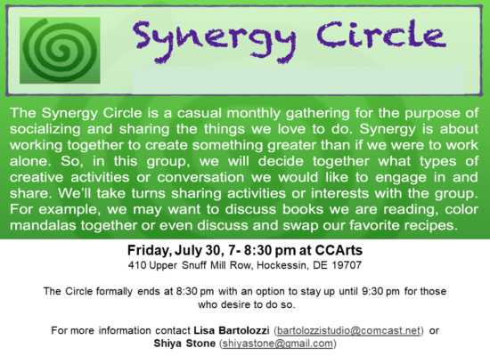 Synergy Circle Meeting July 30th Flyer - Updated