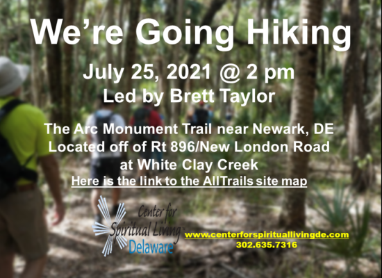 We're Going Hiking 07.25.21 Flyer